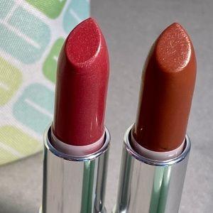 "Clinique 2 full-size lipsticks in ""Beauty"" & ""Tender Heart""NEW"
